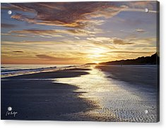 Golden Sands Acrylic Print by Phill Doherty