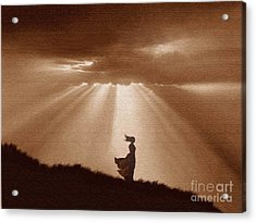 Golden Shafts Acrylic Print