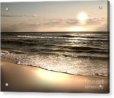 Golden Shoreline Acrylic Print by Jeffery Fagan