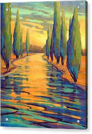 Acrylic Print featuring the painting Golden Silence 3 by Konnie Kim