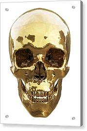 Golden Skull Acrylic Print by Vitaliy Gladkiy