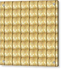 Golden Sparkle Biscuits Pattern Unique Graphic V3 Acrylic Print