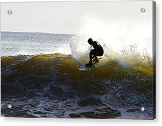 Golden Splash Acrylic Print