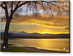 Golden Spring Time Twin Peaks Sunset View Acrylic Print by James BO  Insogna