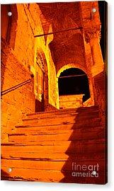 Golden Stairs Acrylic Print by Ramona Matei