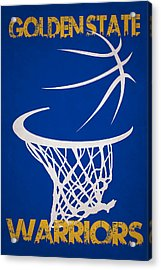 Golden State Warriors Hoop Acrylic Print by Joe Hamilton