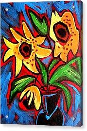 Golden Sunflowers Acrylic Print