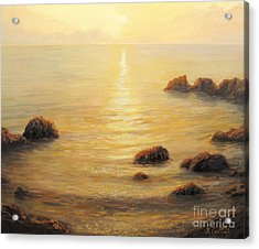 Golden Sunrise Acrylic Print by Kiril Stanchev