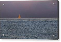 Golden Sunrise Sails By Denise Dube Acrylic Print