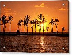 Golden Sunset In An Orange Sky Acrylic Print by Scott Mead