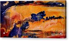 Golden Sunset Acrylic Print by Julia  Walsh