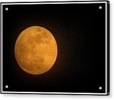 Golden Super Moon Acrylic Print by Kathy Barney