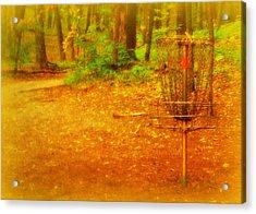 Golden Target Acrylic Print