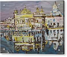 Golden Temple  Acrylic Print by Vikram Singh