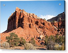 Golden Throne Capitol Reef National Park Acrylic Print