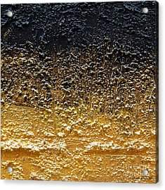 Acrylic Print featuring the painting Golden Time - Abstract by Ismeta Gruenwald
