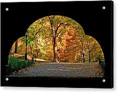 Golden Underpass Acrylic Print
