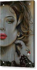Portrait - ' Golden Utopia ' Acrylic Print