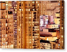 Acrylic Print featuring the photograph Golden Vancouver Cityscape Cdxii By Amyn Nasser by Amyn Nasser