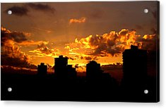 Golden Vancouver Sunset Acrylic Print