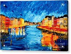 Golden Venice Acrylic Print