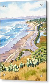 Golden View From Torrey Pines Acrylic Print by Mary Helmreich