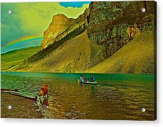 Golden Voyage Acrylic Print by Jim Hogg