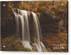 Golden Waterfall Acrylic Print