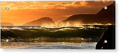 Golden Wave Acrylic Print by Florian Walsh