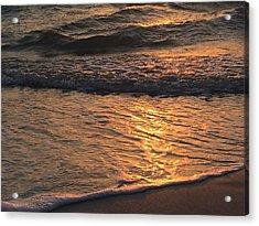 Golden Waves Acrylic Print