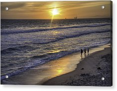 Golden West Sunset Acrylic Print by Spencer McDonald