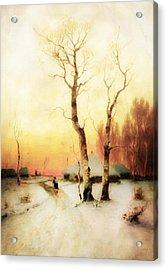 Golden Winter Of Forgotten Dreams Acrylic Print by Georgiana Romanovna