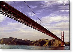 Goldengate Bridge San Francisco Acrylic Print by Bob and Nadine Johnston