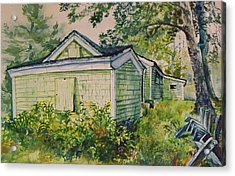 Acrylic Print featuring the painting Goldenrod by Joy Nichols
