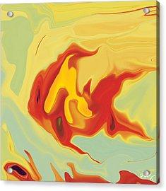 Acrylic Print featuring the digital art Goldfish 2 by Rabi Khan
