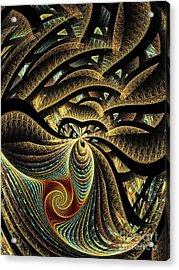 Goldfish Acrylic Print by Klara Acel