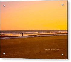 Goldlen Shore At Isle Of Palms Acrylic Print by Kendall Kessler