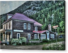 Goldminer Hotel Acrylic Print by Juli Scalzi