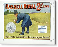 Golf Advertisement Acrylic Print by British Library