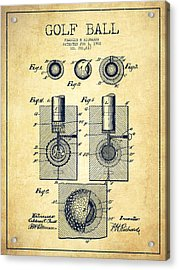 Golf Ball Patent Drawing From 1902 - Vintage Acrylic Print