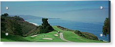 Golf Course At The Coast, Torrey Pines Acrylic Print by Panoramic Images