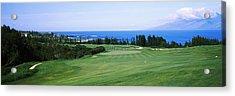 Golf Course At The Oceanside, Kapalua Acrylic Print