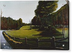 Golf Course In Duxbury Ma Acrylic Print by Diane Strain