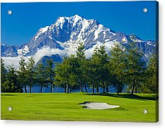 Golf Course In The Mountains - Riederalp Swiss Alps Switzerland Acrylic Print