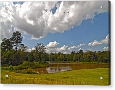 Acrylic Print featuring the photograph Golf Course Landscape by Alex Grichenko