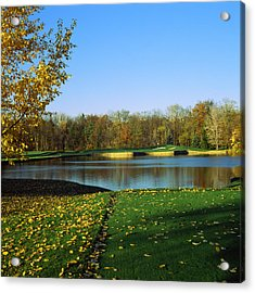 Golf Course, Laurel Valley Golf Club Acrylic Print by Panoramic Images