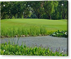 Golf Course Lay Up Acrylic Print