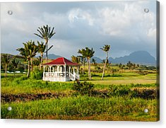 Acrylic Print featuring the photograph Golf Course On Poipu Shores Kauai by Photography  By Sai