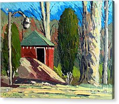 Golf Course Shed Series No.14 Acrylic Print by Charlie Spear