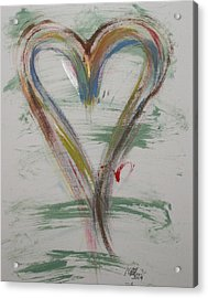 Golf Heart Acrylic Print